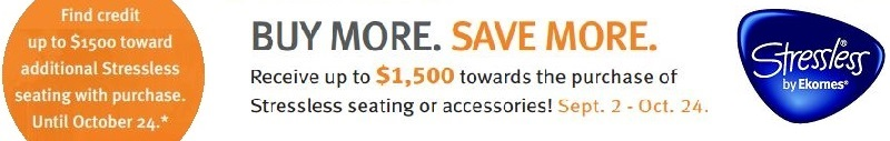 Earn up to $1500 when purchasing Stressless E40 Sectional Sofas at Unwind.