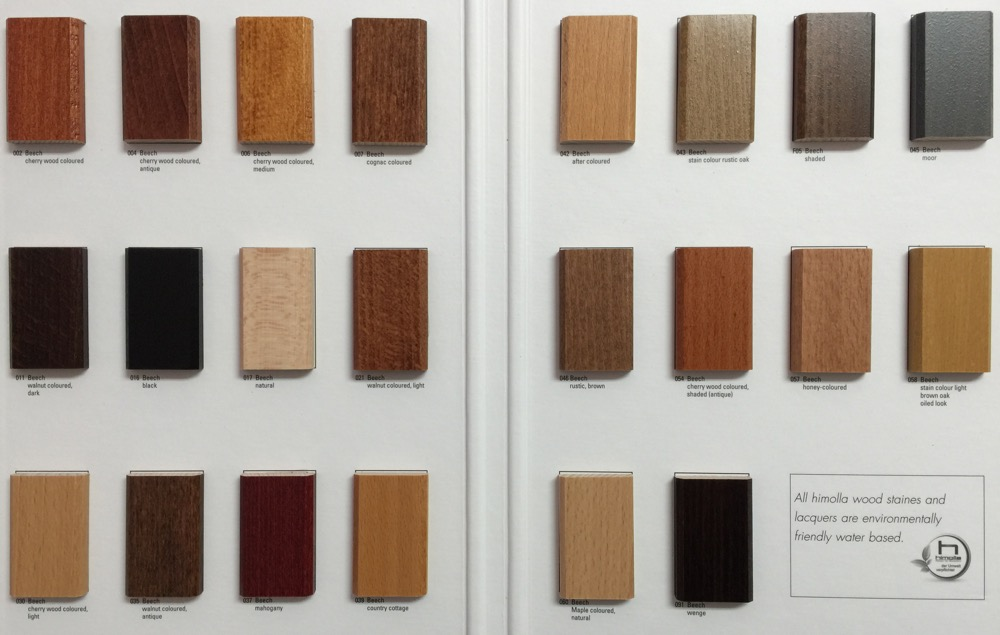 Himolla Wood Stain Color Chart Large