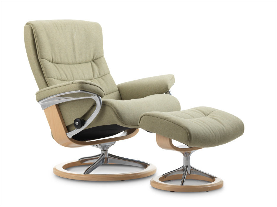 Light Green Calido Fabric- Ekornes Stressless Nordic Signature Recliner.