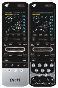 LCD Remote Control- Features Pre Set Massage Programs by Osaki and allows for manual control as well.