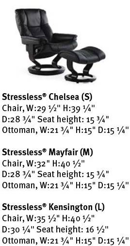 Mayfair Family of Recliners - Dimensions Card