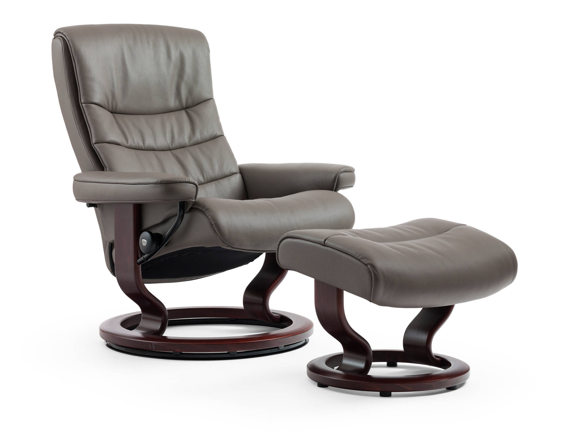 Nordic Recliner by Ekornes in Khaki Cori Leather