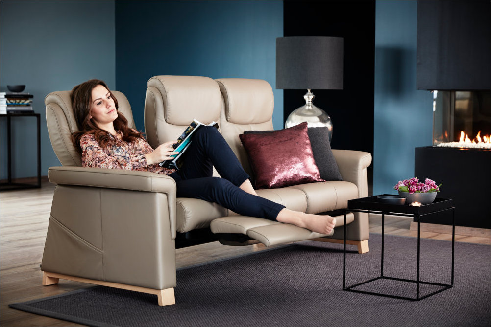 Stressless Breeze LegComfort 3 Seat Sofa
