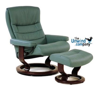 Stressless Nordic Recliner and Ottoman medium with Classic Base